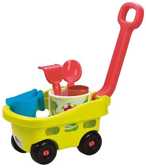 ECOIFFIER Záhradný vozík s vedierkom a príslušenstvom zelený