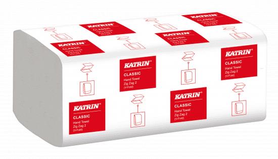 Katrin KATRIN CLASSIC papírové ručníky, ZZ bílé, dvě vrstvy, 4000 ks Hand Pack