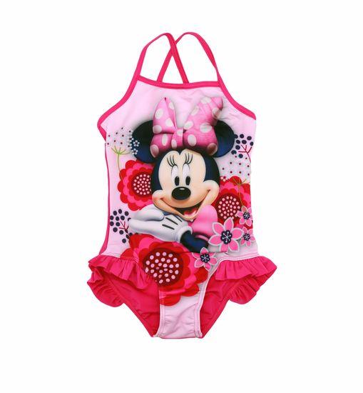 "SETINO Dekliške enodelne kopalke ""Minnie Mouse""- fuksije"