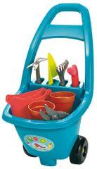 ECOIFFIER taczka z narzędziami ogrodowymi, doniczkami i konewką, niebieski