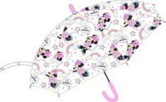 """Eplusm Automatikus esernyő átlátszó """"Minnie éger"""" - rózsaszín"""