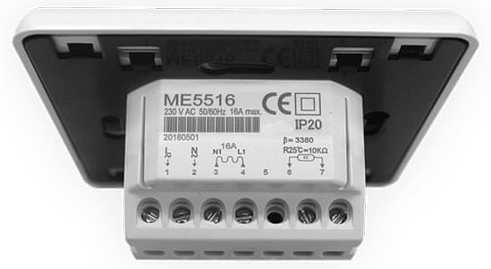 LARX LCD termostat tlačidlový, 16 A