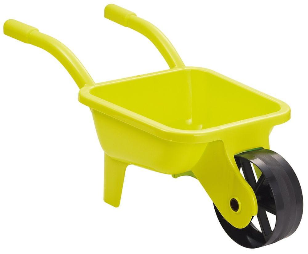 Ecoiffier Zahradní kolečko plastové žluté