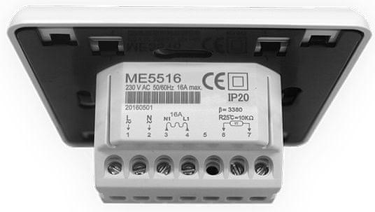 LARX LCD termostat tlačidlový, Wi-Fi, 16 A