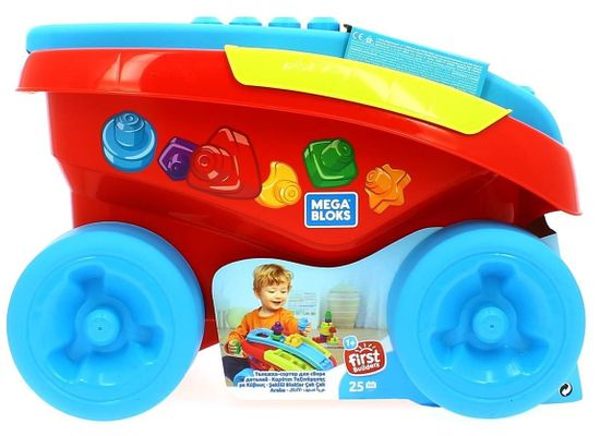 MEGA BLOKS zabaven voziček rdeča / modra