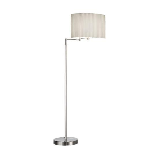 Kolarz Stoječa svetilka HILTON SAND polirani nikelj, višina 148 cm