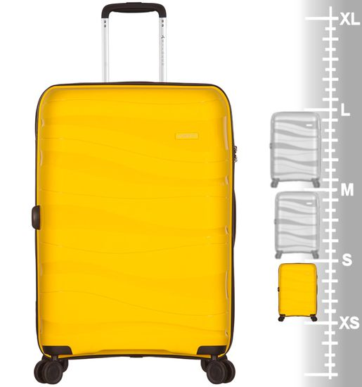 AZURE Kabinové zavazadlo SIROCCO T-1233/3-S PC - žlutá