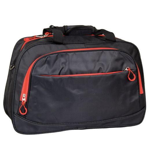 REAbags Cestovní taška REAbags LL35 - černá/červená