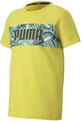 Puma fantovska majica Alpha Graphic Tee B Meadowlark, 176, rumena