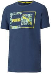 Puma fantovska majica Alpha Graphic Tee B Dark Denim, 116, temno modra