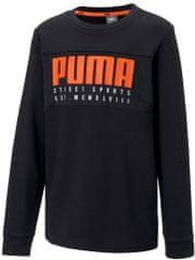 Puma chlapecká mikina Alpha Crew TR B Puma Black 110 černá
