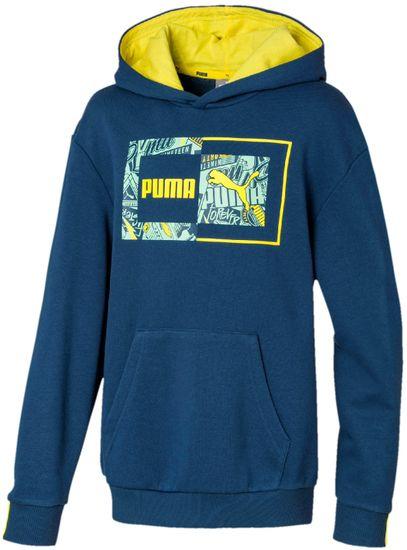 Puma fantovski pulover Alpha Hoody TR B Dark Denim