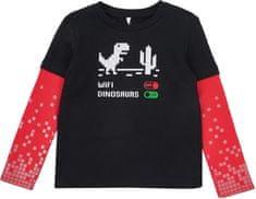 Garnamama chlapecké tričko Pixel 116 - 122, černá/červená