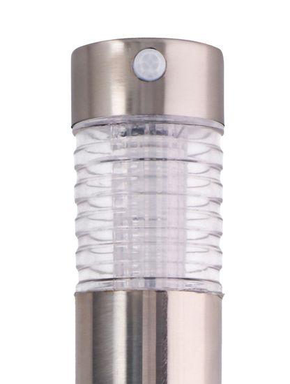 GRUNDIG Napelemes lámpa mozgásérzékelővel, rozsdamentes acél, 6x39 cm