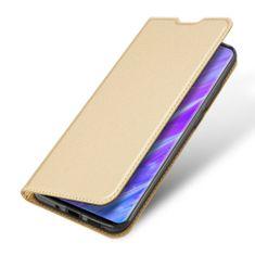 Dux Ducis Skin Pro knjižni usnjeni ovitek za Samsung Galaxy S20 Plus, zlato