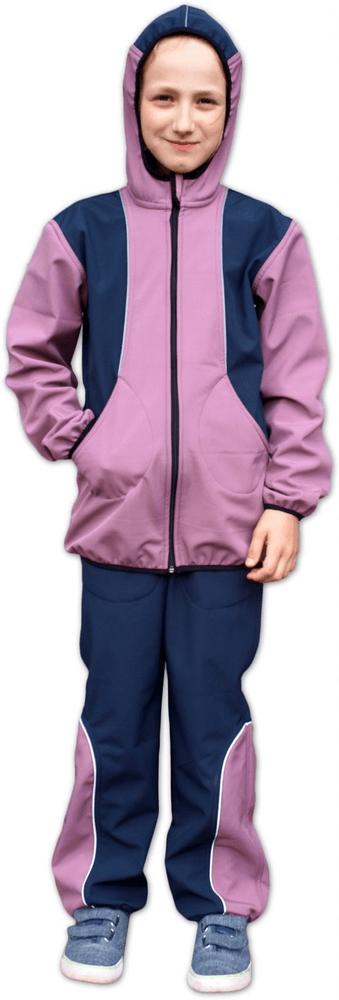 Jožánek Dětská softshellová bunda, růžová / tm. modrá 98/104