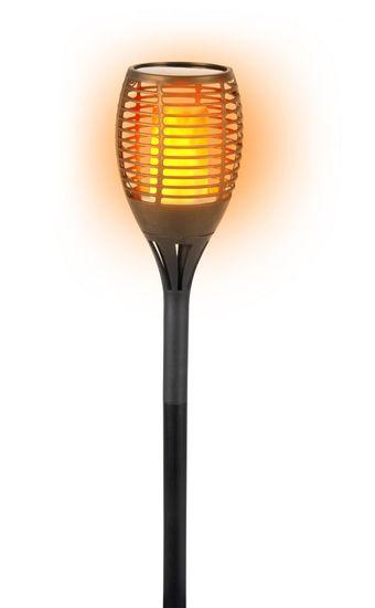GRUNDIG Természetes tüzet utánzó napelemes kerti lámpa 77x12 cm