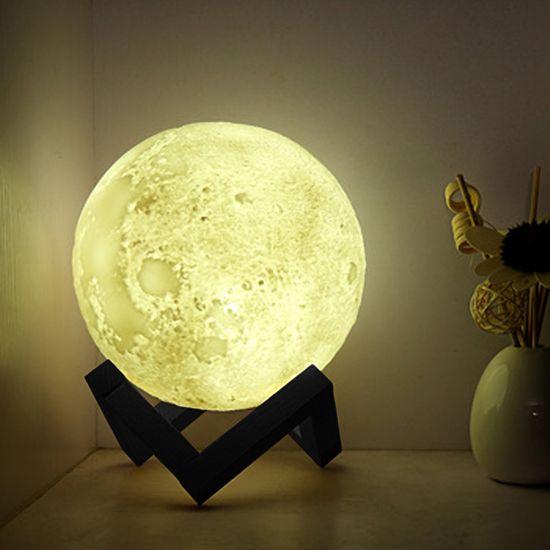 Grundig svetilka, dizajn lune, premer 12 cm, RGB barve