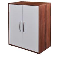 IDEA nábytek Prádelník s dvířky 61501 ořech/bílá
