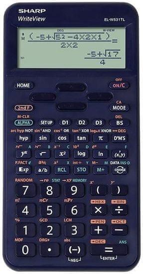 Sharp kalkulator ELW531TLBBL, tehnični, 420 funkcij, 4-vrstični, moder