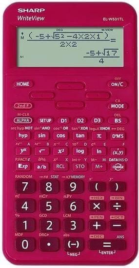 Sharp kalkulator ELW531TLBRD, tehnični, 420 funkcij, 4-vrstični, rdeč
