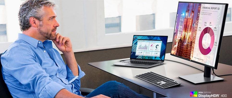 Dell U2720Q (210-AVES) HDR 400 valódi színek reális kép