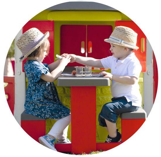 Smoby stół piknikowy z ławkami do domku