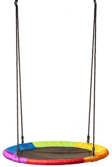 Woody mavrični gugalni obroč (premer 100 cm)
