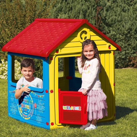 DOLU Detský záhradný domček, plastový, modrý