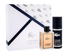 Lacoste L´Homme parfumska voda, 100 ml + deodorant v spreju, 150 ml