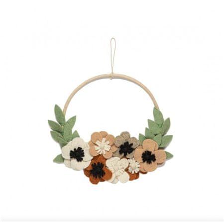 Decor By Glassor Dekorativní věnec na stěnu květiny
