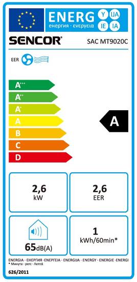 SENCOR klimatska naprava SAC MT9021C 9 000 BTU, 91 m3