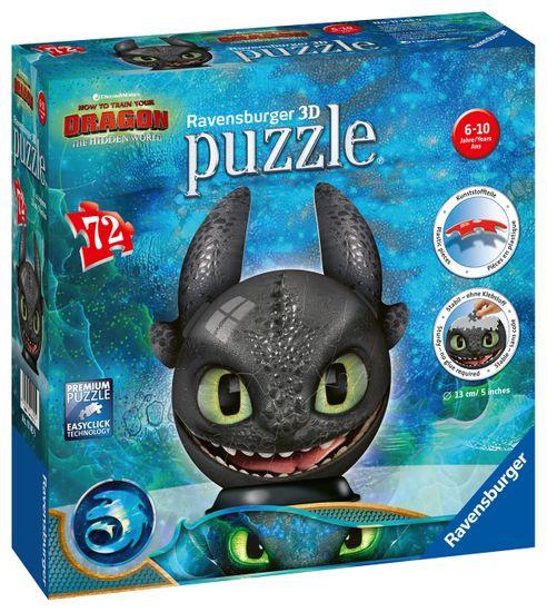 Ravensburger PuzzleBall Szczerbatek 72 elementy