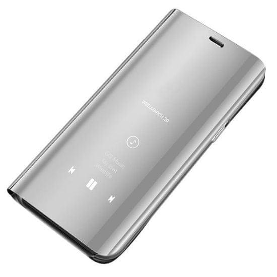 MG Clear View knižkové púzdro pre Samsung Galaxy S8 G950, strieborné