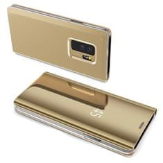 MG Clear View flip ovitek za Samsung Galaxy A7 2018 A750 zlato