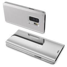 MG Clear View knjižni ovitek za Samsung Galaxy A70, srebrna