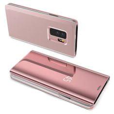 MG Clear View flip ovitek za Samsung Galaxy A7 2018 A750, roza