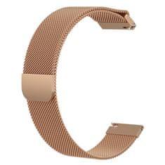BStrap Samsung Galaxy Watch 42mm Milanese remienok, Rose Gold