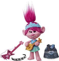 HASBRO Trolls Poppy pojoča figurica, z rock dodatki