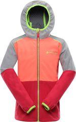 ALPINE PRO dievčenská softshellová bunda NOOTKO 10, 92 - 98, viacfarebná