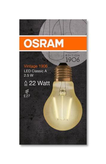 Osram 1906LEDCLA22 2,5W/824 230V FILG E27 10x1OSRAM
