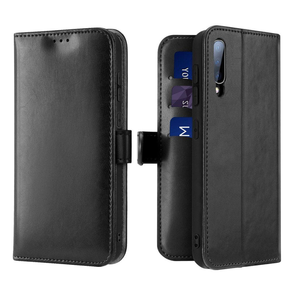 Dux Ducis Kado knížkové kožené pouzdro na Samsung Galaxy A70, černé