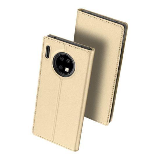 Dux Ducis Skin Pro knjižni usnjeni ovitek za Huawei Mate 30 Pro, zlato