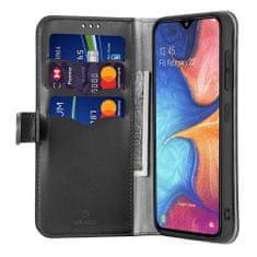 Dux Ducis Kado usnjeni flip ovitek za Samsung Galaxy A40, črna