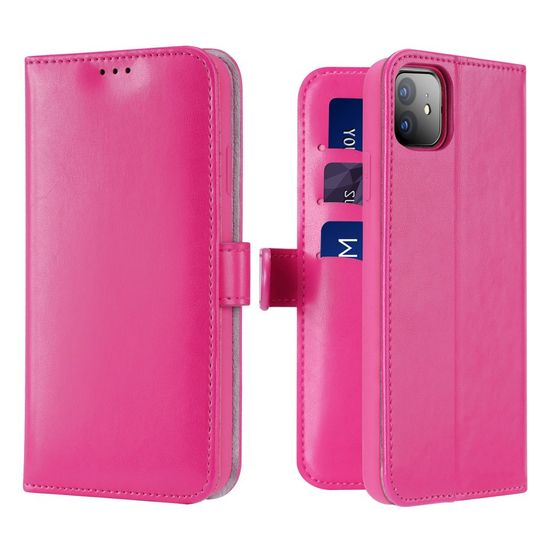 Dux Ducis Kado Book usnje ovitki za iPhone 11, roza