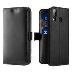 Dux Ducis Kado usnjeni flip ovitek za Samsung Galaxy A20e, črna