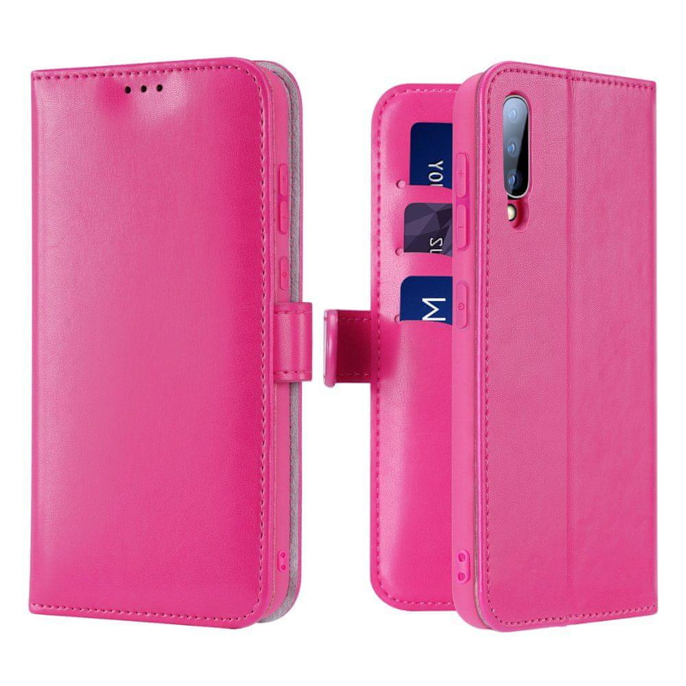 Dux Ducis Kado knížkové kožené pouzdro na Samsung Galaxy A70, růžové