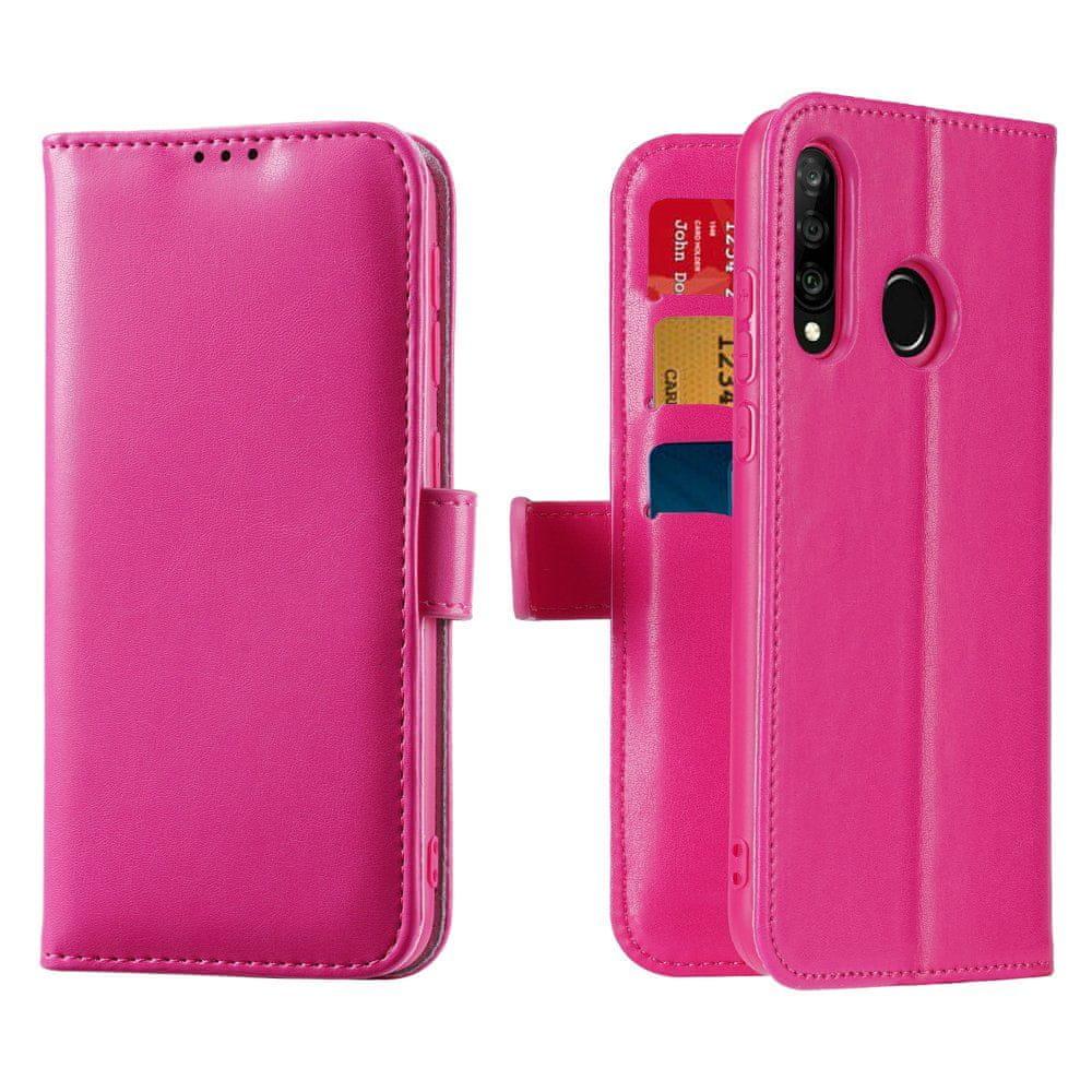 Dux Ducis Kado knížkové kožené pouzdro pro Huawei P30 Lite, růžové