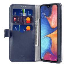 Dux Ducis Kado usnjeni flip ovitek za Samsung Galaxy A20e, modra