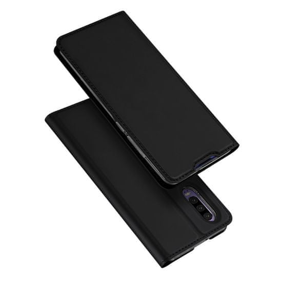 Dux Ducis Skin Pro usnjeni flip ovitek za Huawei P30, črna